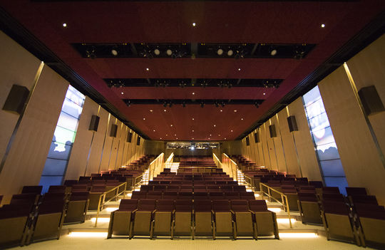 The newly-renovated Grandstand Theater comes with a new film, <em>Generations of the Game</em>, which features 19 Hall of Fame narrators. (Milo Stewart Jr./National Baseball Hall of Fame and Museum)