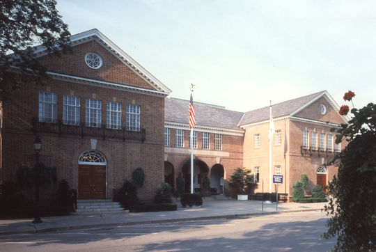 Baseball Hall of Fame, as it looked after the 1980 expansion BL-1803-97 (National Baseball Hall of Fame)