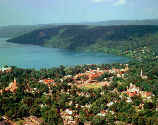 An aerial view of Cooperstown, NY - BL-435-2013-13 (National Baseball Hall of Fame Library)