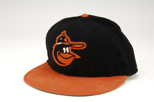 Cap from Jim Palmer's 1969 no-hitter against the Oakland Athletics - B-357-69 (Milo Stewart, Jr./National Baseball Hall of Fame)