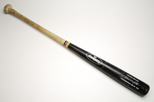 Bat used by Angels outfielder Dave Winfield to hit his 400th HR, vs. Minnesota Twins, 8/14/91 - B-205-91 (Milo Stewart Jr./National Baseball Hall of Fame Library)