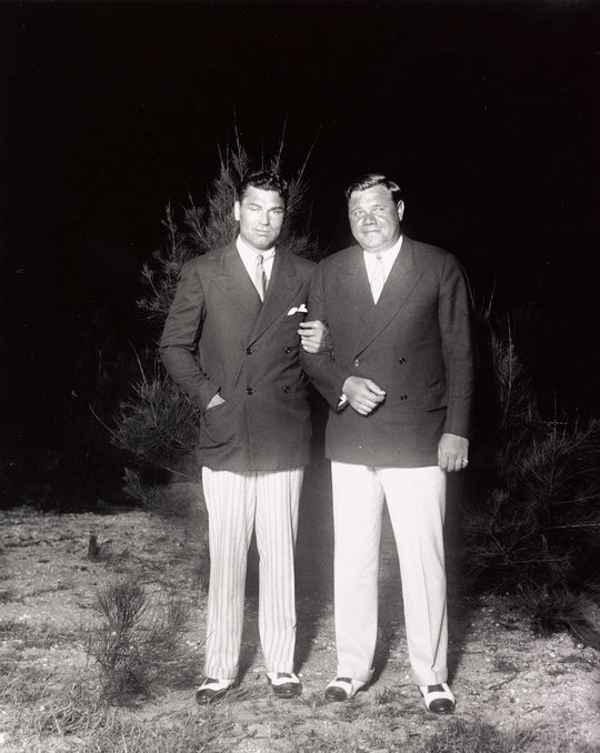 "Boxer Jack Dempsey (left) and Babe Ruth were two of the greatest sport icons of the 1920s. <a href=""https://collection.baseballhall.org/islandora/object/islandora%3A632760"">PASTIME</a> (National Baseball Hall of Fame and Museum)"