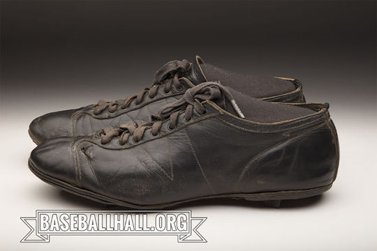 These spikes were worn by Shoeless Joe Jackson in 1919, the same year of the infamous Black Sox World Series scandal. (Milo Stewart Jr./National Baseball Hall of Fame and Museum)