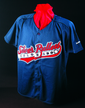 Colorado Silver Bullets uniform jersey worn by Ann Williams (Planas) during the 1994 season. B-198.2005 (Milo Stewart Jr. / National Baseball Hall of Fame Library)