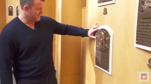 Jim Thome visits the Hall of Fame